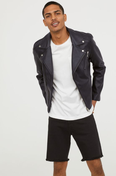 H&M Black Biker Jacket